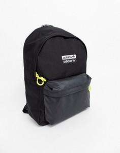 Черный рюкзак с неоновой отделкой adidas Originals