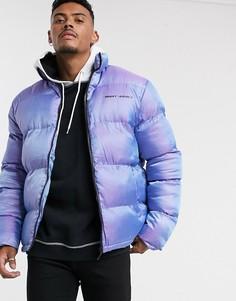 Фиолетовая дутая oversize-куртка Night Addict-Фиолетовый