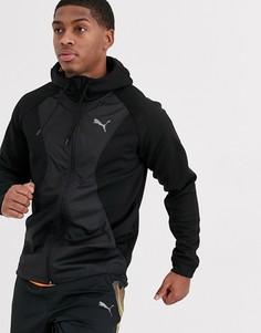 Куртка на молнии с капюшоном Puma Running-Черный