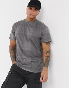 Серая футболка в клетку New Look-Серый