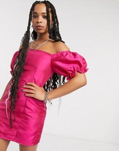 Платье мини в винтажном стиле с пышными рукавами Milk It-Розовый