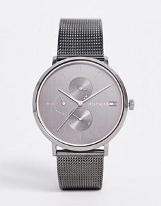 Часы с сетчатым браслетом металлического цвета Tommy Hilfiger 1781945 Jenna-Серый