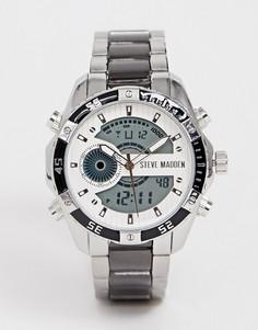 Электронные часы с металлическим корпусом Steve Madden-Черный