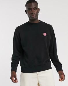 Черный свитшот с логотипом Nudie Jeans