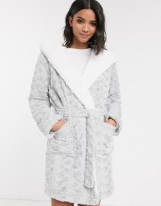 Серый халат Topshop