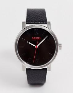Наручные часы с кожаным ремешком HUGO 1530115 Rase 42 мм-Черный