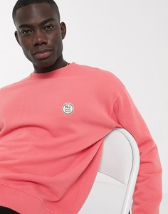 Розовый свитшот с логотипом Nudie Jeans