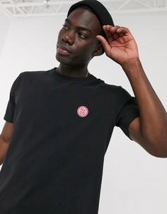 Черная футболка с логотипом Nudie Jeans-Черный