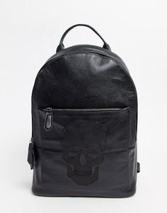 Рюкзак с тисненым рисунком черепа Bolongaro Trevor-Черный