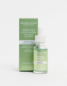 Сыворотка с экстрактом зеленого чая и коллагеном Revolution Skincare-Бесцветный