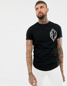 Обтягивающая футболка с заклепками Religion-Черный