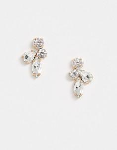 Серьги-гвоздики с кристаллами True Decadence-Золотой