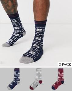 3 пары мужских носков с узором Фэйр-Айл Penguin-Мульти