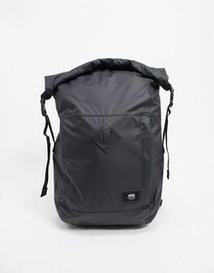 Черный мужской рюкзак с отворотом Vans