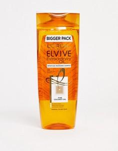 Шампунь для нормальных и сухих волос с кокосовым маслом LOreal - Elvive, 500 мл-Бесцветный