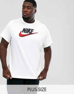 Белая футболка с логотипом Nike Plus-Белый