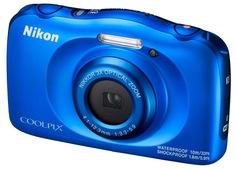 Цифровой фотоаппарат Nikon Coolpix W100 с рюкзаком (голубой)
