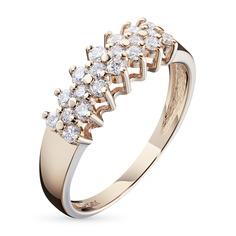 Кольцо из красного золота с бриллиантом э02к021596 ЭПЛ Якутские Бриллианты