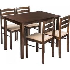 Обеденная группа Woodville Starter (стол и 4 стула) oak/beige