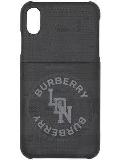 Burberry чехол для iPhone X/XS с логотипом