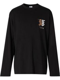 Burberry футболка с контрастным логотипом