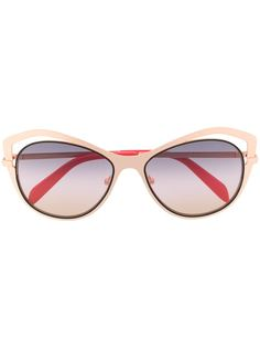 Emilio Pucci солнцезащитные очки в оправе бабочка с вырезными деталями
