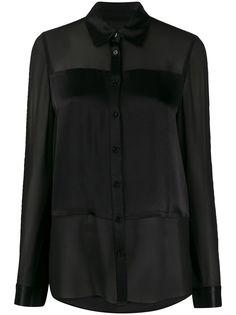 Michael Michael Kors шифоновая блузка с атласной вставкой