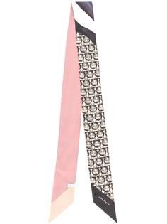 Salvatore Ferragamo шарф с монограммой