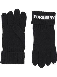 Burberry перчатки с логотипом