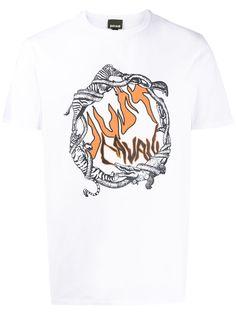 Just Cavalli футболка с круглым вырезом и логотипом