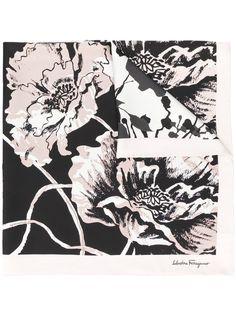 Salvatore Ferragamo платок с цветочным принтом