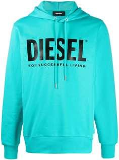 Diesel толстовка с капюшоном и логотипом