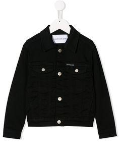 Calvin Klein Kids джинсовая куртка с логотипом