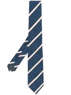 Brunello Cucinelli галстук в диагональную полоску