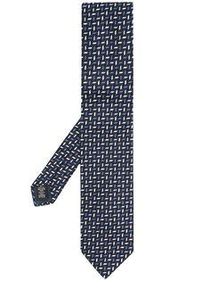 Ermenegildo Zegna жаккардовый галстук с геометричным узором