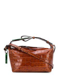 GANNI сумка-тоут с тиснением под кожу крокодила