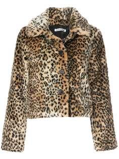 Reformation пальто Hampton с леопардовым принтом