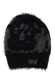 Черная шапка с люрексом Liu Jo
