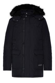 Куртка с капюшоном и накладными карманами Calvin Klein