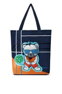 Складная синяя сумка с рисунком Ulisse Furla