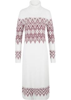 Платье макси с норвежским узором Bonprix