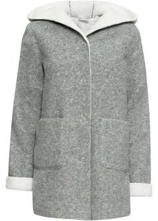 Пальто Полупальто на плюшевой подкладке Bonprix