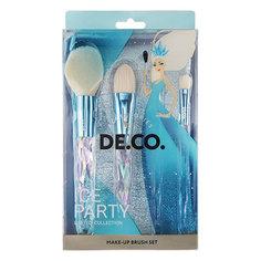 Набор кистей для макияжа DE.CO. ICE PARTY в чехле 4 шт Deco