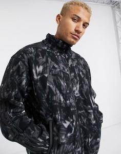 Флисовая куртка с принтом и светоотражающей отделкой adidas Originals-Черный