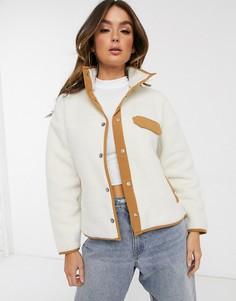 Белая флисовая куртка The North Face Cragmont-Белый