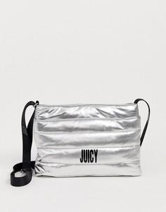 Сумка через плечо цвета металлик Juicy Couture-Серебряный