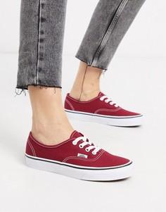 Красные/белые кроссовки Vans Authentic Rumba-Красный