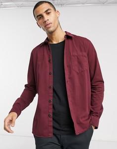 Бордовая рубашка на пуговицах Nudie Jeans-Красный
