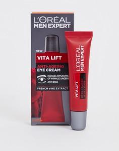 Антивозрастной крем для кожи вокруг глаз LOreal Men Expert Vita Lift, 15 мл-Бесцветный