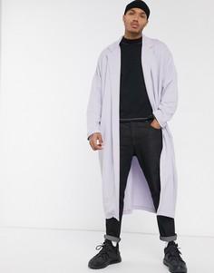 Свободная легкая куртка из трикотажа лавандового цвета ASOS DESIGN-Фиолетовый
